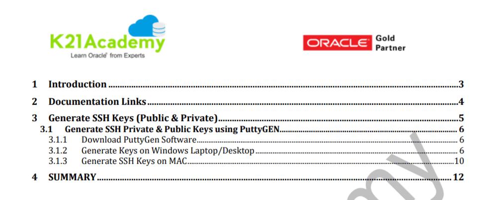 How to Generate SSH Keys in Oracle Cloud