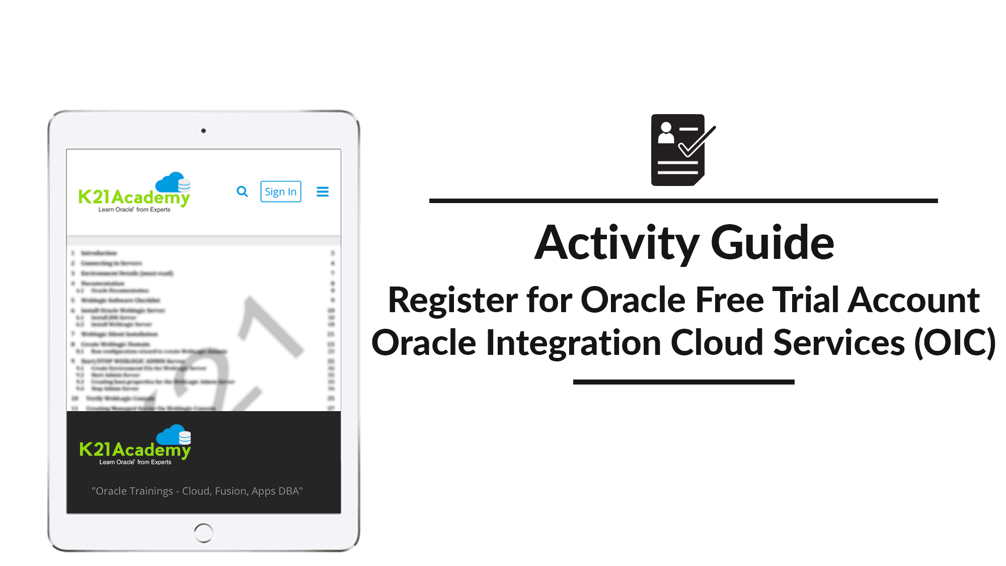 Register for Oracle Free Trial Account