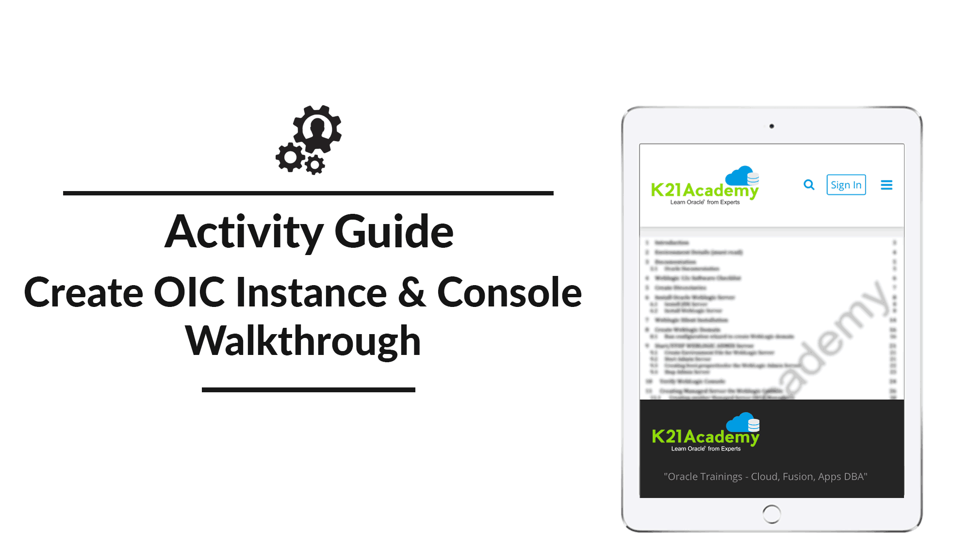 Create OIC Instance and Console Walkthrough