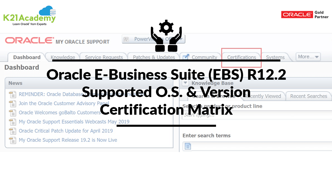 Oracle E-Business Suite (EBS) R12.2 Supported O.S. & Version : Certification Matrix