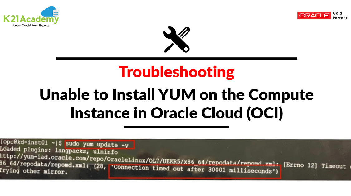 Unable to Install YUM on the Compute Instance in Oracle Cloud(OCI)