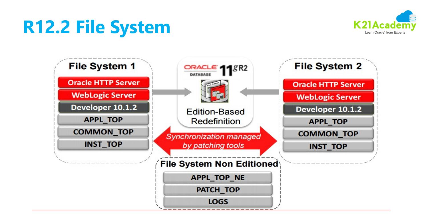 appsdba r12.3 ebs apps file system dual f1 fs2 fsne