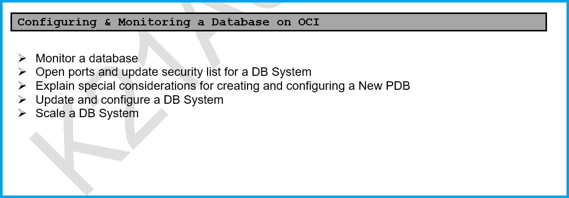 Configuring & Monitoring a Database on OCI