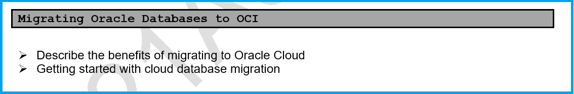 Migrating Oracle Databases to OCI: Overview