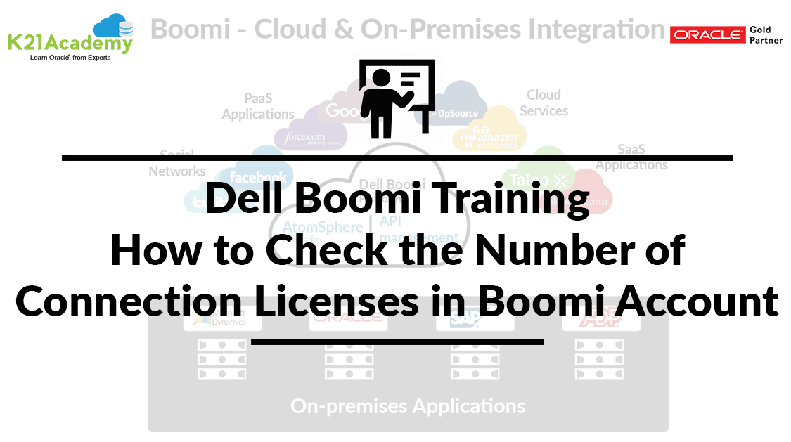 Dell Boomi Training: How to check number of Connection Licenses in Boomi Account