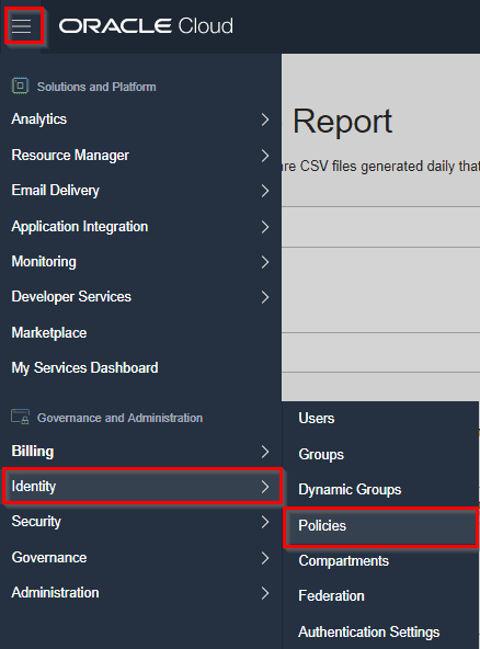 How to check Usage Report