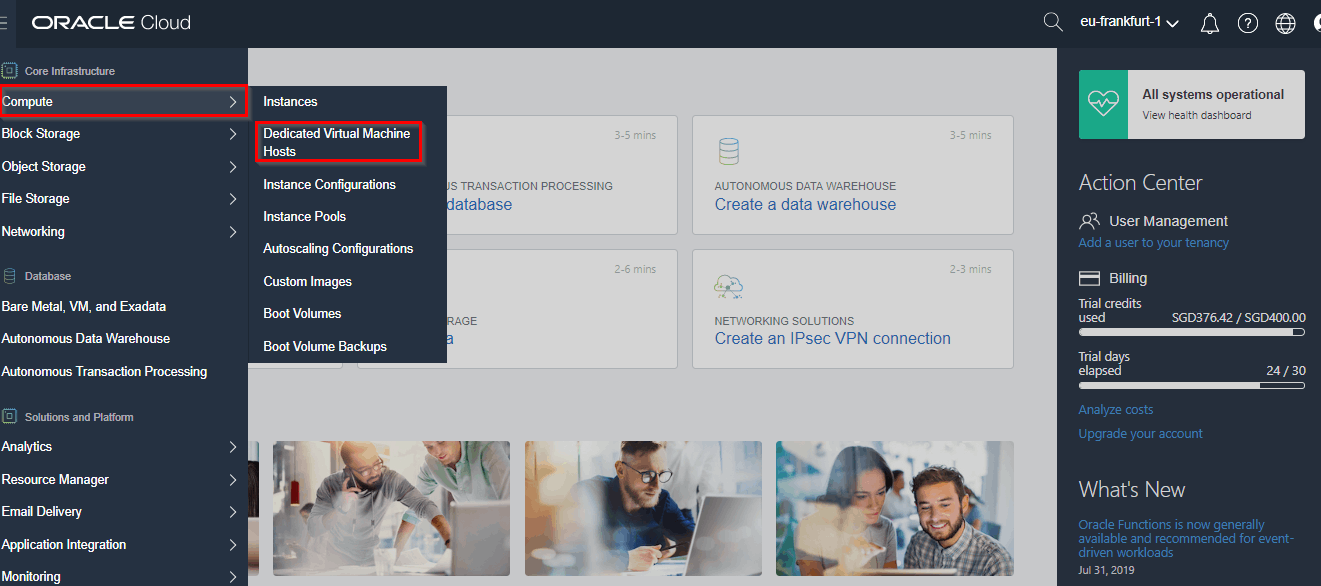 Navigate Dedicated Virtual Machine Hosts