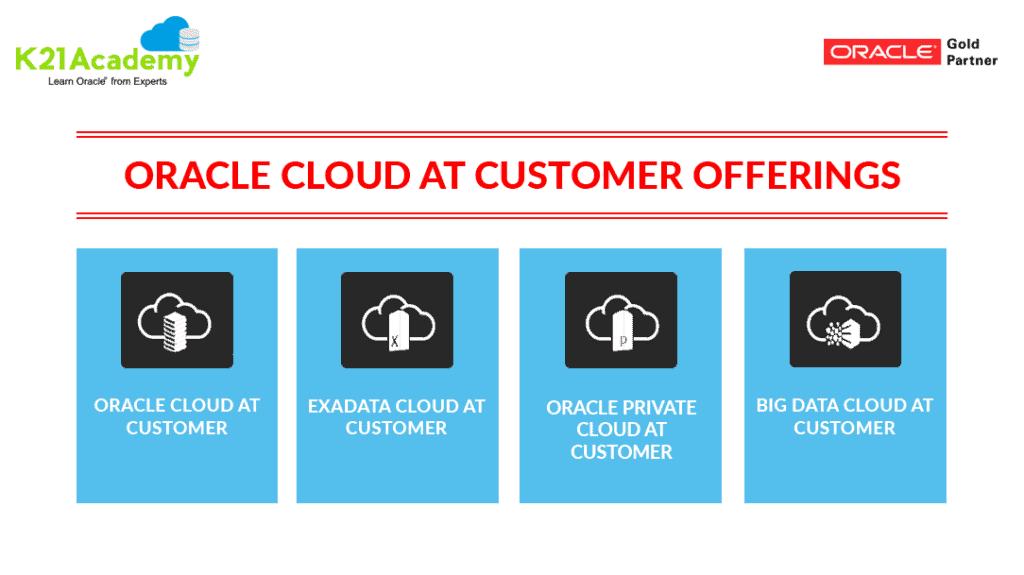 Cloud at Customer Offerings