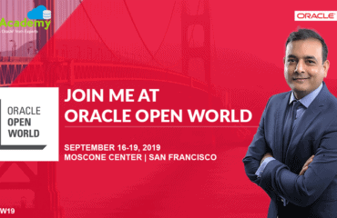 Join Me, Atul Kumar, At Oracle OpenWorld #OOW19 San Francisco (SFO)