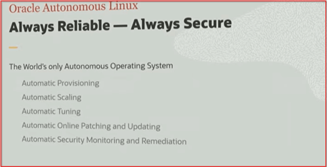 Oracle Autonomous Linux OOW19