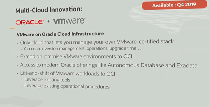 oracle and VMware Partnership