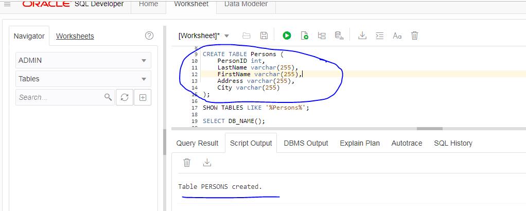SQL Developer Web