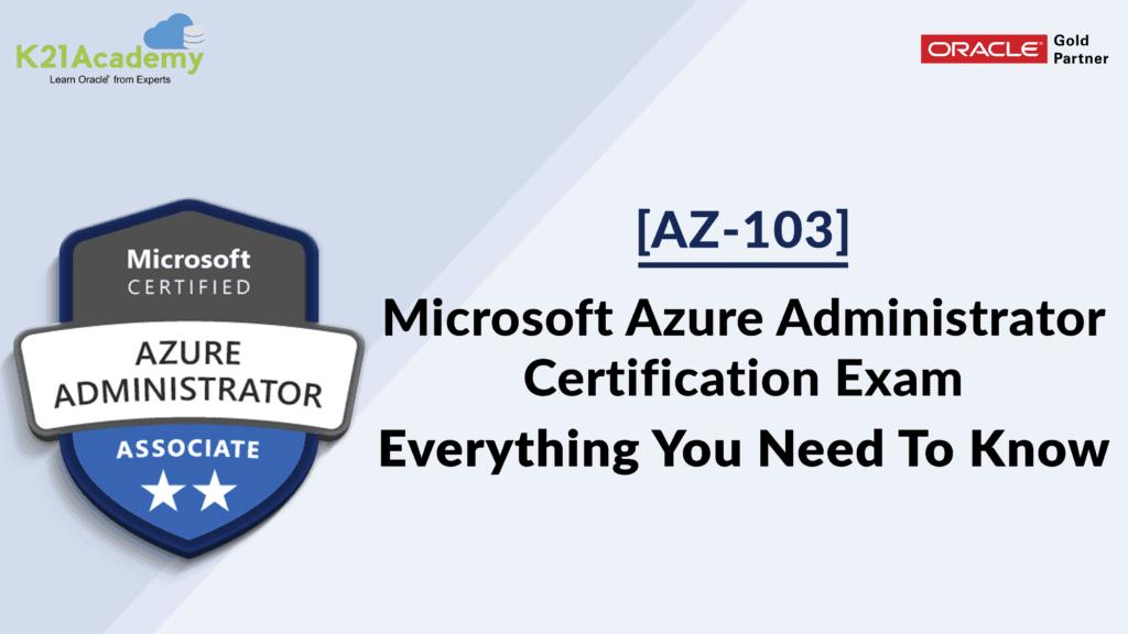 [AZ-103] Microsoft Azure Administrator