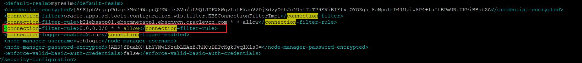Weblogic connection Filter