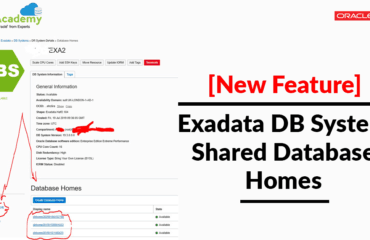 New Feature: Exadata (ExaCs) DB System: Shared Database Homes