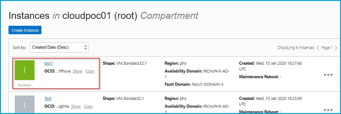 Resizing Compute Instance