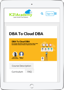 DBA to Cloud DBA Tablet Image