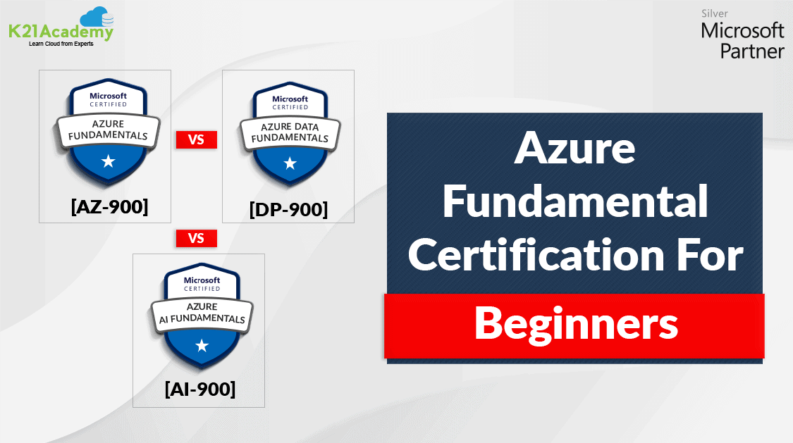Azure Fundamental Certification For Beginners: AZ-900 vs AI-900 vs DP-900